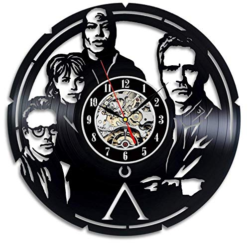 Wanduhr aus Vinyl Stargate Wanduhr Vintage 3D Dekoration Film Thema Hängen Uhren Wohnkultur Stille 12 Zoll Xi144