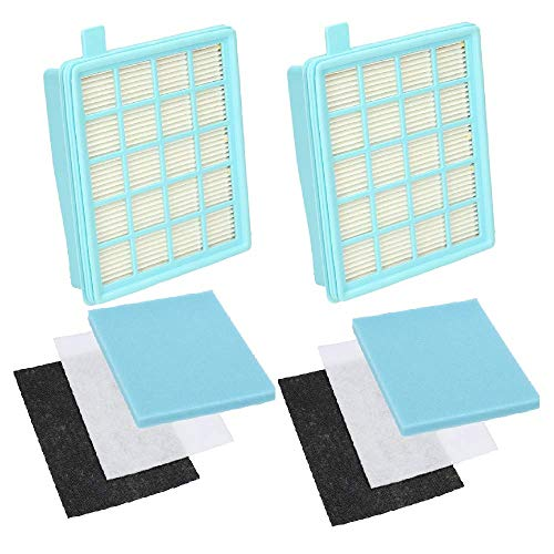 Wessper Lot de 2 : Kit de Filtres pour Les Aspirateurs Philips PowerPro Active et PowerPro Compact (Alternative à FC8058 01)