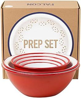 Véritable Falcon Enamelware Prep Set (Pillarbox Red)
