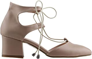 Ayakland 544-348 Günlük 5 Cm Topuk Bayan Cilt Sandalet Ayakkabı Pudra