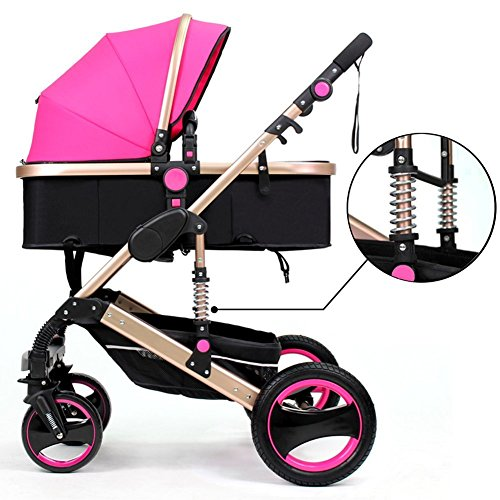 Learn More About FRERA Luxury Newborn Baby Foldable Anti-Shock High View Carriage Infant Stroller Pu...