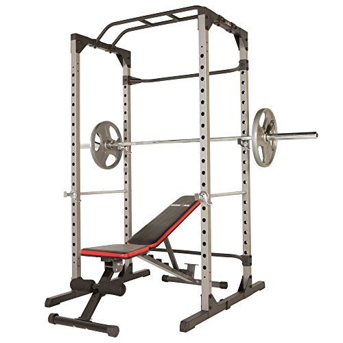 IRONMAN H-Class 810XLT Power Cage with The H-Class 800XT 12 Position Weight Bench Combo