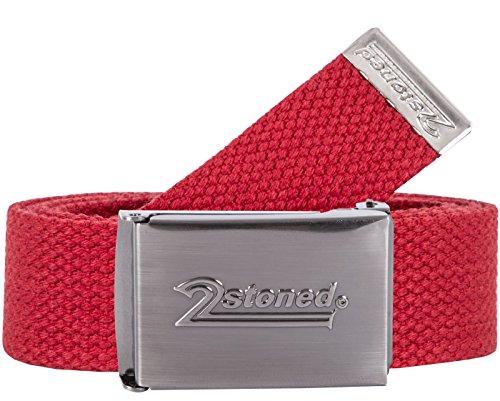 2Stoned Original Gürtel Classic mit Gürtelschnalle Speed Matt in Rot