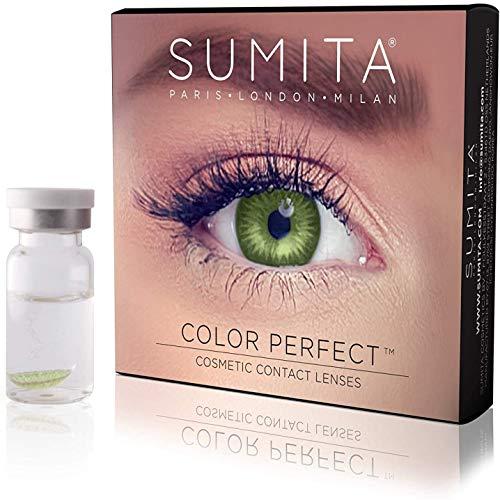 SUMITA Color Perfect (Verde Smeraldo) Lenti a Contatto Colorate, Lenti a Contatto Mensili, morbide, durata di 1 mese,Proteggono gli occhi dai raggi UV, Non Graduate, Made in Corea