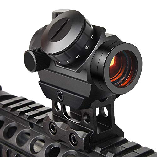 EZshoot Red Dot Sights for Rifles, 1x25mm 2MOA Red Dot Scope with 1 Inch 20mm...