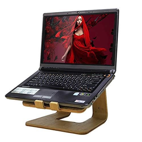 ZTSS Ordenador portátil de bambú del Soporte de la Tableta, Titular Notebook Riser portátil de Escritorio ventilada, ergonómico de refrigeración Fit Soporte para (10'-17') Ordenador