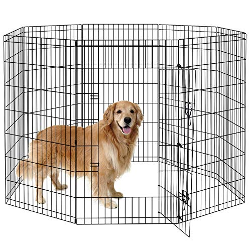 Pet Dog Playpen Foldable Puppy Exercise Pen Metal Portable Yard Fence for Small Dog & Travel Camping...