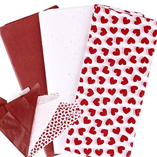 30 Hojas Papel Seda para Envolver Regalos 65x46cm Papeles Envoltura Flores de Colores para San Valentín Cumpleaños Boda Navidad