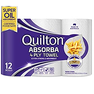Quilton Absorba Paper Towel Rolls, Pack of 12 (B08D5FJ4LS) | Amazon price tracker / tracking, Amazon price history charts, Amazon price watches, Amazon price drop alerts