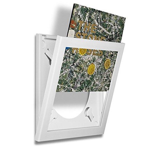 Art Vinyl Play&Display Schallplattenrahmen, Frame für Vinyl und LP Cover, dekorativer Wechselrahmen, weiß