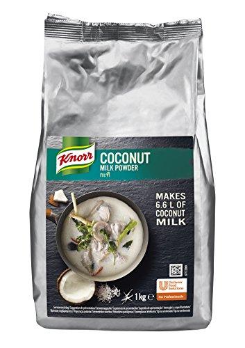 Knorr Kokosmilch Pulver (Milk Powder aus 20 frischen Kokosnüssen, ergibt 6,6 Liter Kokosmilch) 1er Pack (1 x 1 kg)