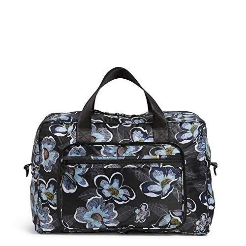 Vera Bradley Women's Packable Weekender Travel Bag, Blooms Shower Black, One Size