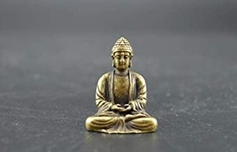 Sculptures Statues Collectable Brass Carved Maitreya Buddha Small Statues