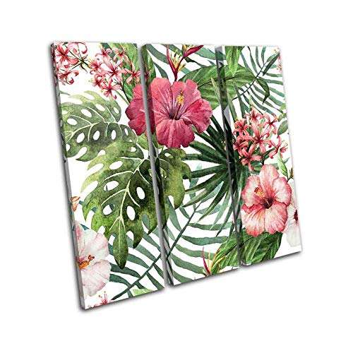 3 Pieces Of Canvas Painting Botanical Monstera Tropical Leaf Floral Picture Living Room Wall Painting Modern Print Canvas Painting Home Decoration Mural Art-Gift-Frame:Set Of 3 Canvas Wall Art 50X70x3