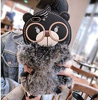 iPhone Xs MAX Silicone Case | Soft Crystal Matte Teddy Bear with Warm Fluffy Fur for Apple New iPhone Xs max (Black)