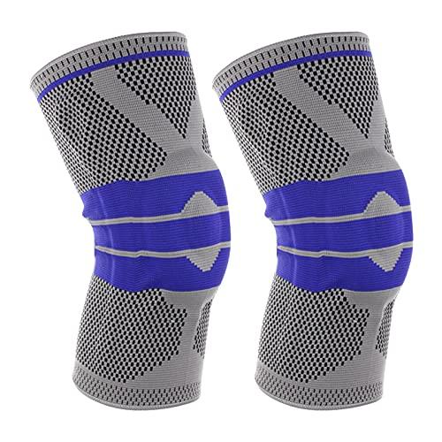 Knästödshylsa, sport knästöd med gelvaddering kompressionsstöd knäskydd för kvinnor män för ligamentskada, ledsmärtlindring, löpning, sport XL