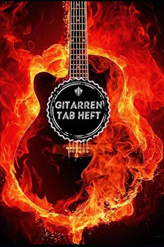 Gitarren Tab Heft: 120 Seiten Gitarren Tabs   DIN A5 (6x9)   Unterricht   Geschenk