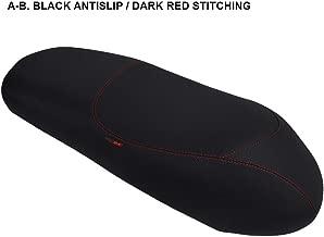 Funda de Asiento para Keeway Logik 150 Negro-Costura roja