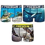 FREEGUN Animals Pack de 3 Boxers POLIÉSTER Reciclado-para Hombre, Multicolor, M