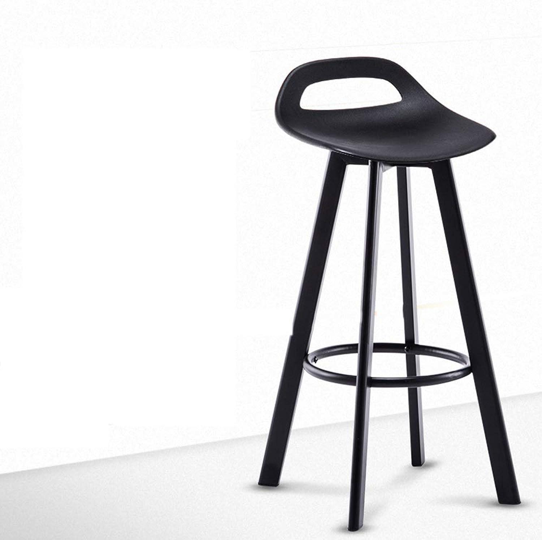 DUXX Bar Stool, Bar Chair redating Chair Minimalist Bar Stool Bar Stool Bar Stool Stool Back (color   Black)