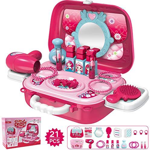 Hiveseen 21 PCS Juguete Maquillaje Niñas, Belleza Juguete S