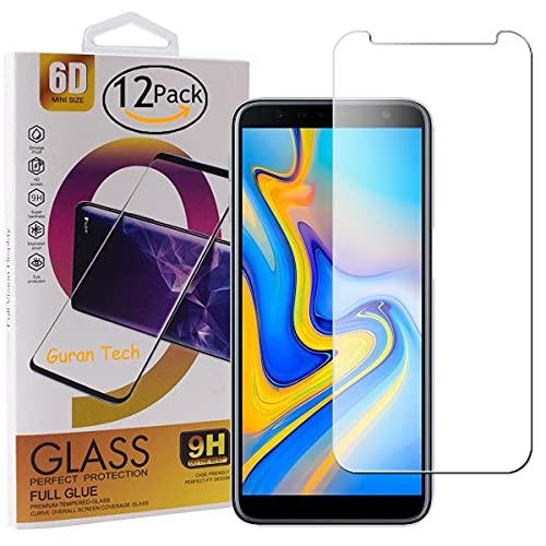Guran 12 Paquete Protector de Pantalla para Samsung Galaxy J4 Plus/Galaxy J4+ / J6 Plus / J6+ 2018 Cristal Templado 9H Dureza Anti Arañazos Alta Definicion Sin Despegamiento...