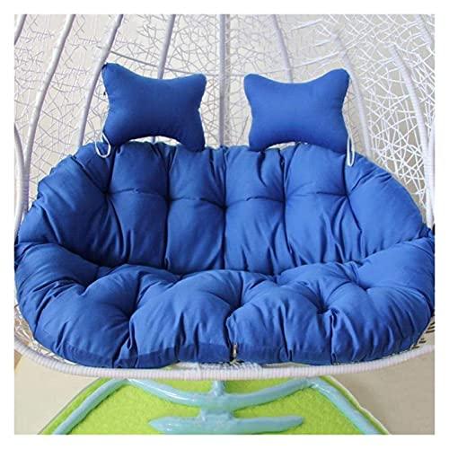 wangYUEQ Cojín grande para silla de huevo, para colgar en el exterior, cojín grueso para silla de huevo, cojín de asiento con nido de huevo (color: azul)