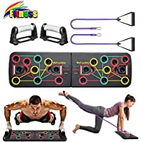 KBY Push Up Board System with Pull Rope amd Multi-Function Portable Bracket Board Push Up Training System