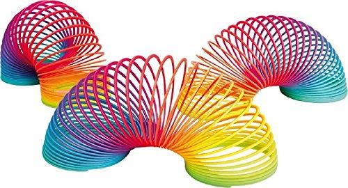 Preisvergleich Produktbild Display Spirale 12er Set Regenbogen Springspirale Treppenläufer