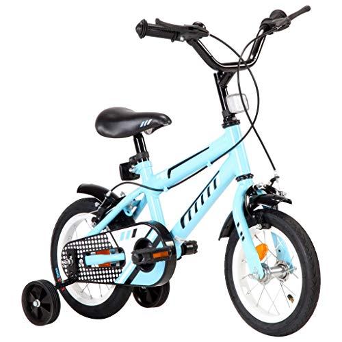Extaum Kinderfahrrad 12 Zoll Spielrad Kinderfahrrad Kinderrad Spielrad Fahrrad Rad Schwarz und Rot/Schwarz und Blau
