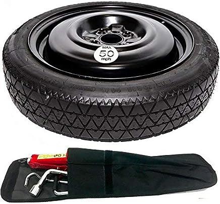 The WheelShop Kit de roue de secours de rechange pour Nissan Qashqai 2007-2013 avec housse de protection