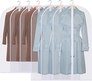 GoMaihe Housses de Vêtements, 6 pcs Housse pour Costume/Penderie Protection Pliable ▏Sac de Vêtement, Protection Transpare...