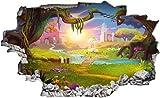 DesFoli Kinder Motiv Zauberwald Fantasie Wandtattoo Wandsticker Wandaufkleber C2165 Größe 120 cm x 180 cm