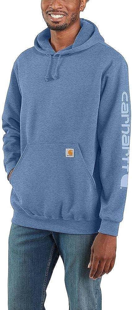 Denver Mall Carhartt Men's Midweight Sleeve trend rank Regular Sweatshirt Hooded Logo