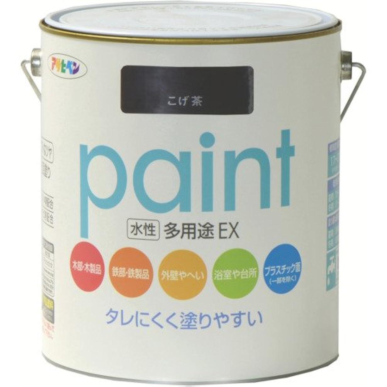 ほのか本物のリーフレットアサヒペン 水性多用途EX 1.6L こげ茶