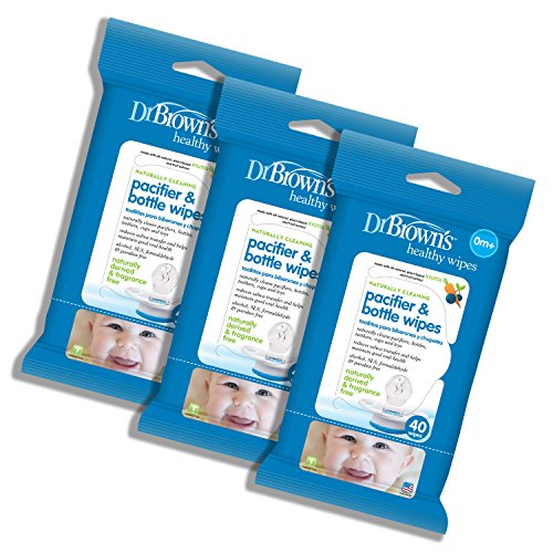 Dr. Brown s Pacifier and Bottle Wipes, 40 Count, 3-Piece
