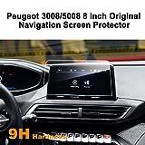 LFOTPP Peugeot 3008 5008 GT 8 Pouces Navigation Verre Trempé - Dureté 9H Film Protection GPS Nav Écran Protecteur Vitre