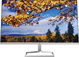 New_HP 27 Inch FHD 1080p IPS LED Anti-Glare Monitor, AMD FreeSync, 70Hz, 300 nits, 2 HDMI & VGA Ports, Tilt (m27f) - Silver and Black (27 Inch)