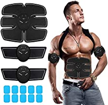 Abs Stimulating Belt- Abdominal Toner-Training Device for Muscles- Wireless Portable to-Go Gym Device- Muscle Sculpting at Home- Fitness Equipment for at-Home Workouts (Ab Stimulator Abs Ab Black)