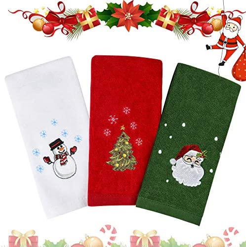Christmas Hand Towels Washcloths 100 Pure Cotton Bathroom Kitchen Washcloths Towels Basin Towels product image