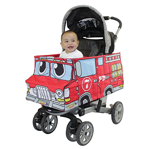 Lowest Prices! Stroller Costumes Fire Truck Turns Stroller Into A Baby, Toddler Ride On Car Toy