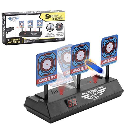 Zielscheibe für Nerf,Auto Reset Elektro-Schießscheiben,Shooting Target,Elektrische Ziel,Toy Gun Elektrische Punktzahl Ziel,Digitale Ziele mit hellem Soundeffekt!Soft Bullet Gun Spielzeug