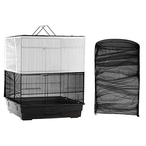 NXL 2 Piezas Cubierta De Jaula Protectora Funda para Jaula Pajaro Cubierta De Malla Jaulas Accesorios Pájaro Ajustable Protector Falda Jaula para Pájaros