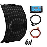 XINPUGUANG 2pcs 100W Flexible Solar Panel 12V 200W Solar Kit Monoctrystalline Module 20A Charge Controller Extension Cable for...