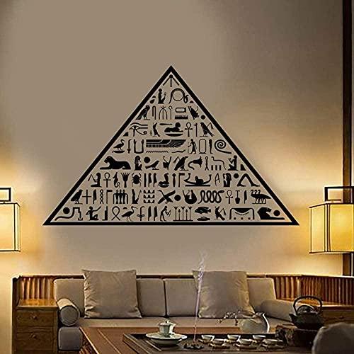 Antiguo Egipto Pirámide Egipcia Jeroglíficos Vinilo Pared Calcomanía Decoración Del Hogar Arte Mural Extraíble Pegatinas De Pared 58X93Cm