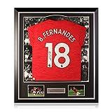exclusivememorabilia.com Camiseta del Manchester United firmada por Bruno Fernandes. Marco de Lujo 2