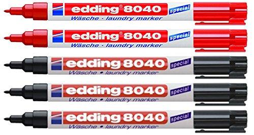 """Edding 8040–Marcador para ropa–0,04""""–La redacción de color negro"""