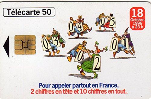 Moebius - France Telecom - numérotation à 10 chiffres - petit bloc-notes