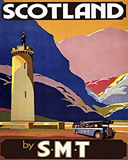 Erthstore 11x14 inch Fine Art Print of Scotland by Scottish Motor Traction Vintage Travel Poster Art