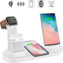 Wireless Charger Station,7.5W Qi Fast Wireless Charging, EIATBF 4IN1 Wireless Charge Dock Station for iWatch and Airpods,Compatible with iPhone11/11Pro/XSMAX/XR/XS/X/8/8P,Galaxy S10/S9/S9+/S8 and More